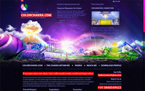 Violet Colored Website