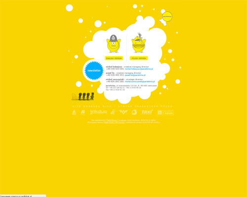 Yellow Colored Website