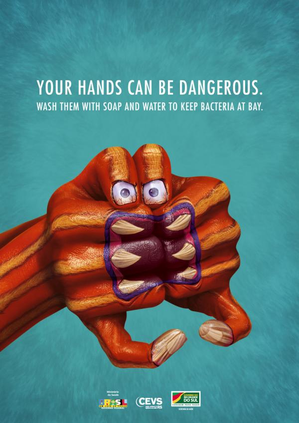 The Body Art on Hands Print Advertisement
