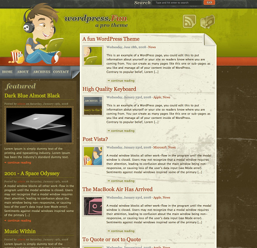 wordpress-fun-theme