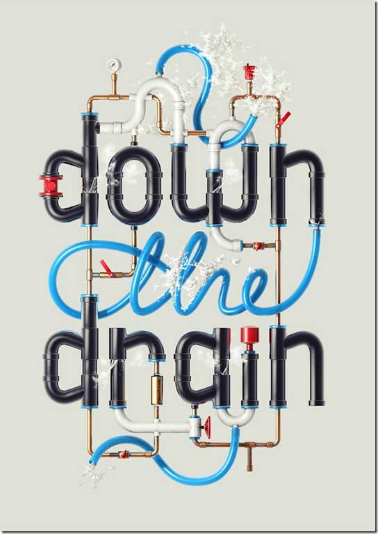 Create-Typography-That's-Going-Down-the-Drain