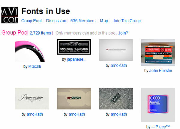 Flickr- Fonts in Use