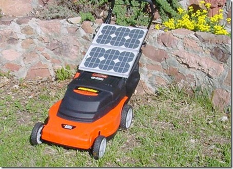 Solar Powered Lawnmower