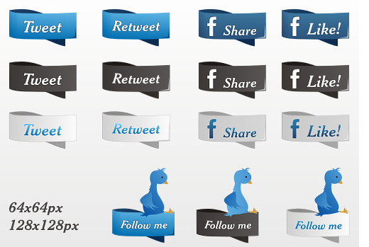 Facebook, Twitter & RSS Feed Icons