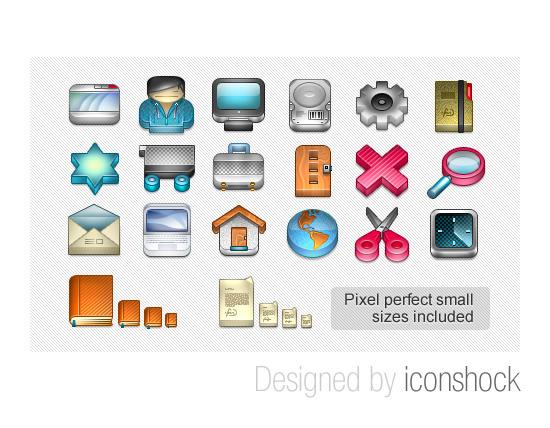 3D glossy icon set