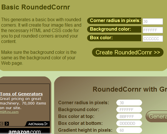 rounded cornr