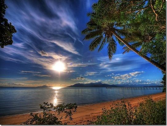sun light on beach -13
