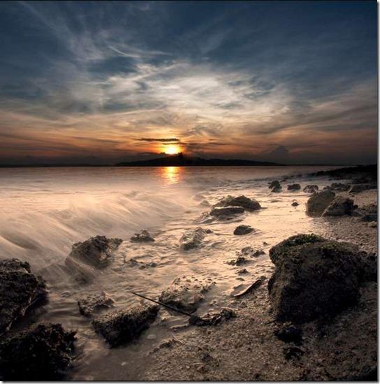 sun light on beach -16