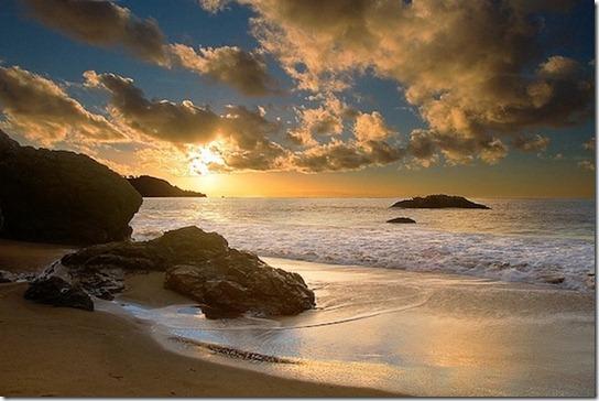 sun light on beach -5