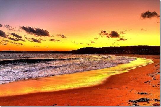 sun light on beach -6