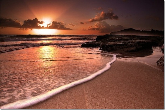 sun light on beach -7