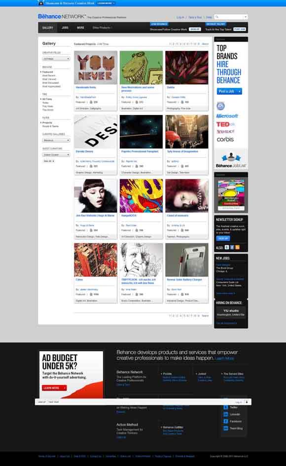Behance Network -- Gallery