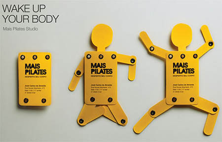 30 cool die cut business cards worth checking out wake up your body business cards reheart Gallery