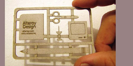 Cool Die Cut Business Cards