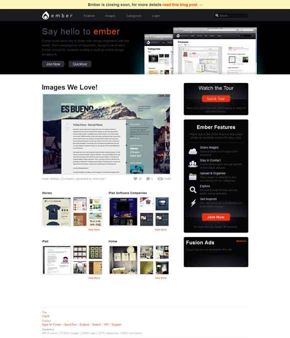 Welcome to Ember! The best way to share your design inspiration!
