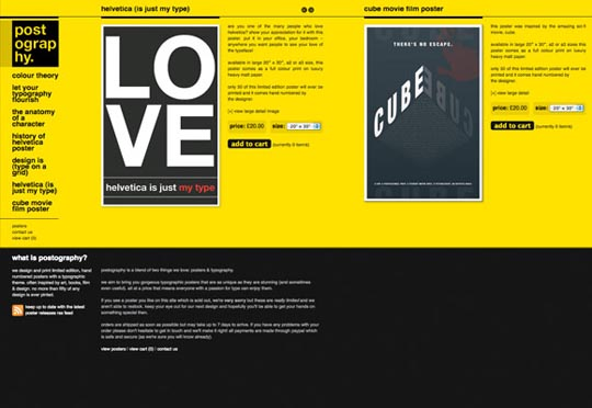 Stunning Composition of Colors in Black Web Design