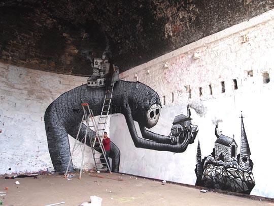 Awesome Ship Graffiti Art