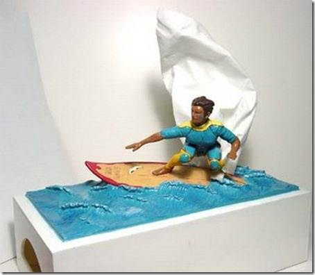 Surfer Tissue Box Cover