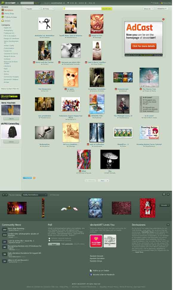 deviantART- where ART meets application!