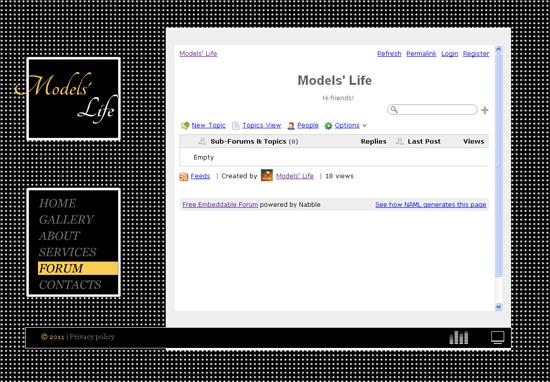 create flash website