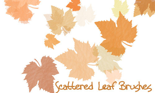 Scattered Leaf Brush