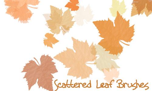 Scattered Leaf Brush