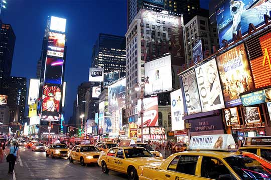Times Square New York night