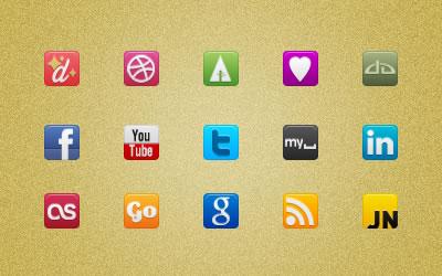 95 social media icons