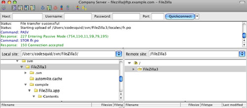 FileZilla mac app