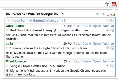 Mail Checker Plus for Google Mail