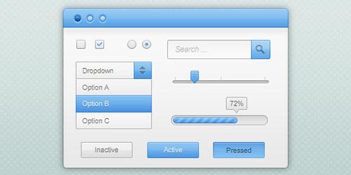 Free PSD UI Kits For Web Design