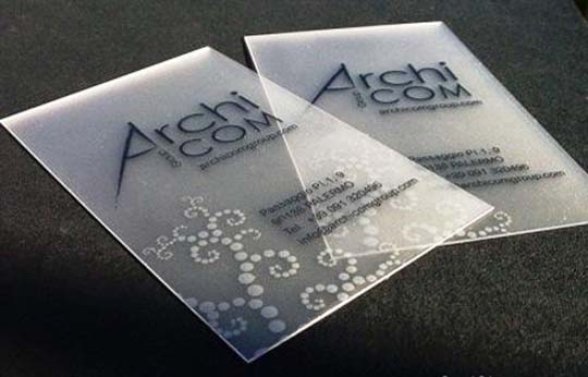 Translucent Frosted Plastic BusinessCard