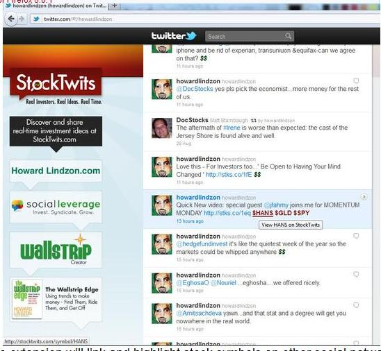 StockTwits Firefox Extension -- Add-ons for Firefox