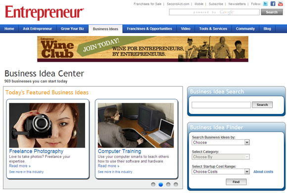Creative Business Websites Ideas For Aspiring Entrepreneur
