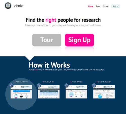 ethnio-Web Usability Testing Tools