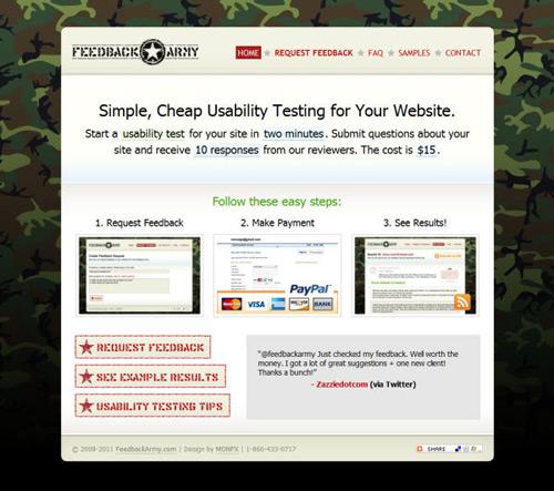 feedback-army-Web Usability Testing Tools