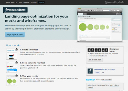 fivesecondtest-Web Usability Testing Tools