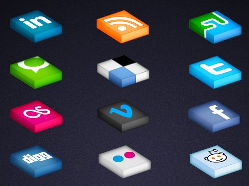 isometrica-social-media-icon-set-full