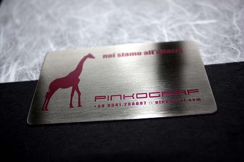metal steel business cards printed full colors