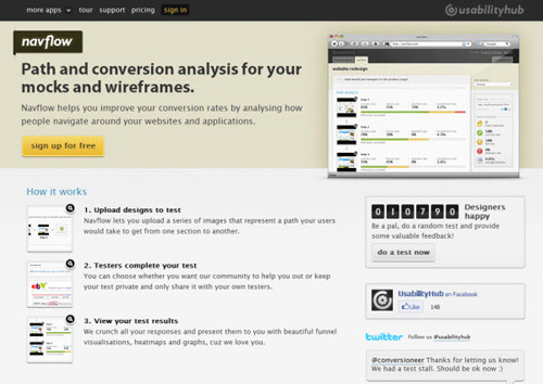 navflow-Web Usability Testing Tools