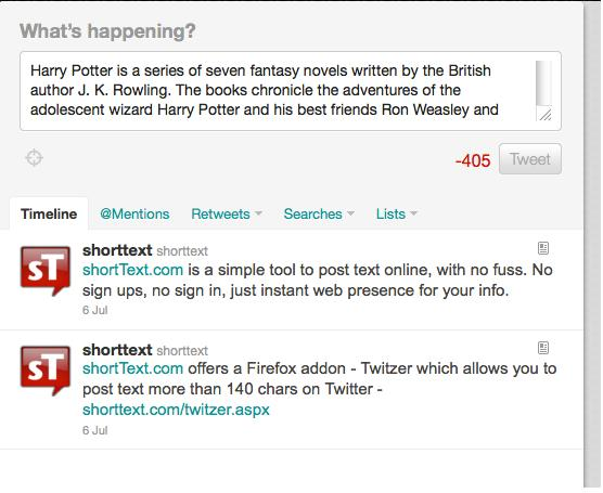 shortxt - Post longer Tweets on Twitter -- Add-ons for Firefox