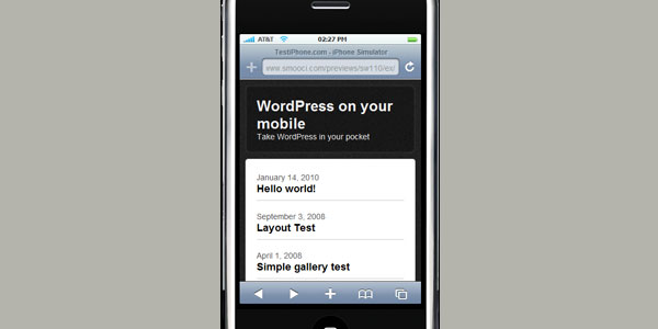 10 New Free WordPress Mobile Themes