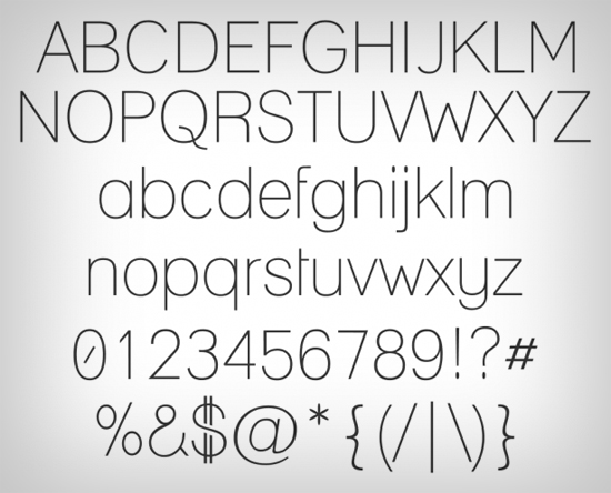 10 Top Free Thin Fonts