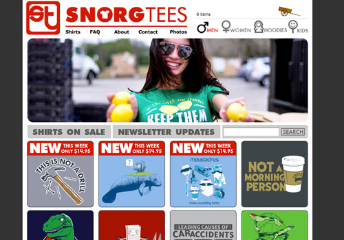 Showcase of Inspirational T-shirt Design Websites