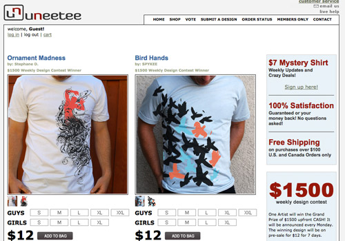 Showcase of Inspirational T-shirt Design Websites