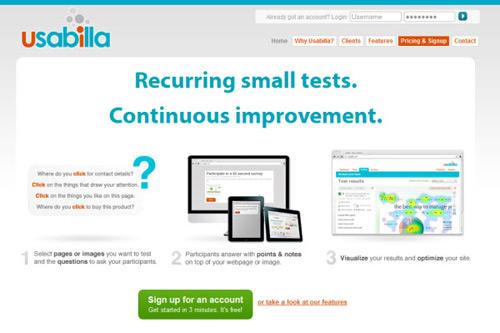 usabilla-Web Usability Testing Tools