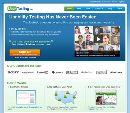 usertesting-Web Usability Testing Tools