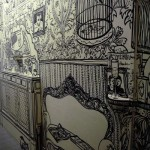 Beautiful Wall Drawing with Black Marker