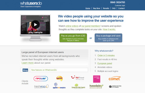 whatusersdo-Web Usability Testing Tools