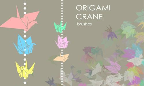Origami Crane Brushes